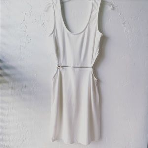 BNWT-Arden B midi off white open side dress-M